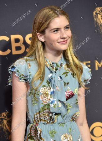 Actor Taylor Ann Thompson arrives for the 69th annual Primetime Emmy Awards at Microsoft Theater in Los Angeles on September 17, 2017.