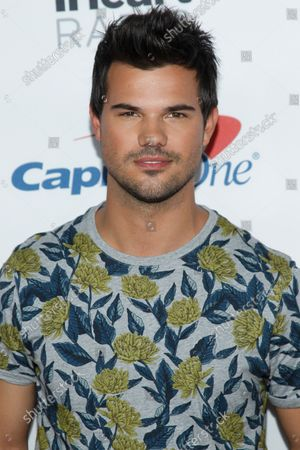 Actor Taylor Lautner attends the iHeartRadio Music Festival at T-Mobile Arena in Las Vegas, Nevada on September 23, 2017.