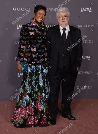 Director George Lucas and his wife Mellody Hobson attend the seventh annual LACMA Art+Film gala honoring artist Mark Bradford and Lucas at the Los Angeles County Museum of Art in Los Angeles on November 4, 2017.