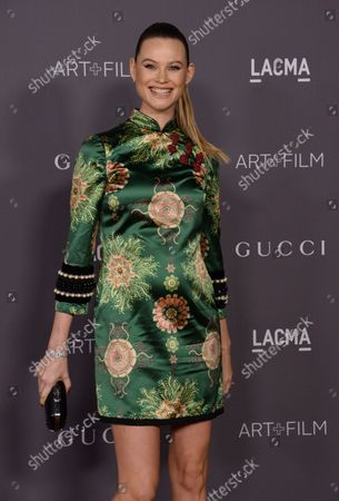 Model Behati Prinsloo attends the seventh annual LACMA Art+Film gala honoring artist Mark Bradford and filmmaker George Lucas at the Los Angeles County Museum of Art in Los Angeles on November 4, 2017.