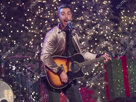 Stock Picture of Nick Fradiani performs at the 86th annual Hollywood Christmas Parade in Los Angeles on November 26, 2017.