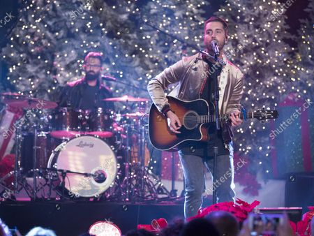 Stock Image of Nick Fradiani performs at the 86th annual Hollywood Christmas Parade in Los Angeles on November 26, 2017.