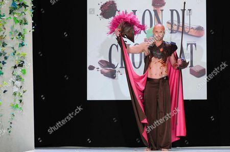 Editorial photo of Salon du Chocolat fashion show at the Porte Versailles in Paris, France - 27 Oct 2010