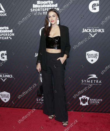 Myla Dalbesio arrives on the red carpet at the Sports Illustrated 2017 Sportsperson of the Year Show on December 5, 2017 at Barclays Center in New York City.