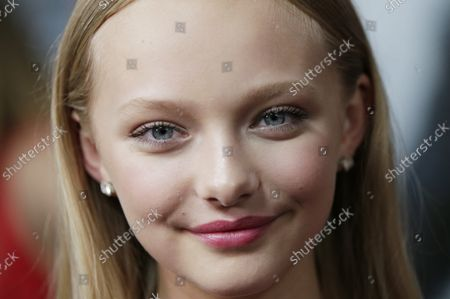 """Amiah Miller arrives on the red carpet at """"War for the Planet Of The Apes"""" premiere at SVA Theater on July 10, 2017 in New York City."""