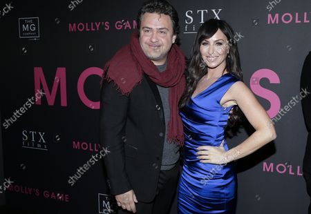 Leopoldo Gout and Molly Bloom arrive on the red carpet at the 'Molly's Game' New York Premiere at AMC Loews Lincoln Square on December 13, 2017 in New York City.