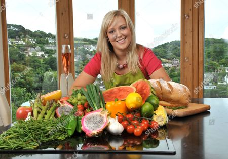 Editorial picture of Lucy Hinchcliffe, chef, Devonshire, Britain  - 14 Aug 2010