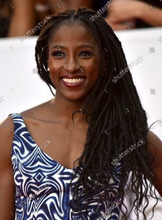 Rutina Wesley arrives for the 49th NAACP Image Awards at the Pasadena Civic Auditorium in Pasadena, California on January 15, 2018. The NAACP Image Awards celebrates the accomplishments of people of color in the fields of television, music, literature and film and also honors individuals or groups who promote social justice through creative endeavors.