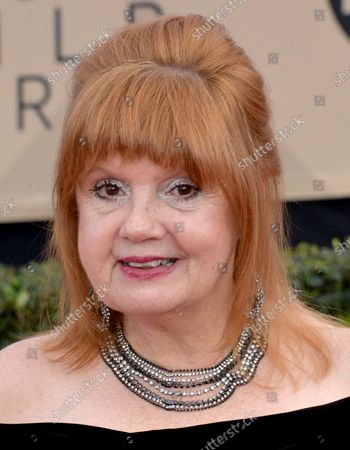 Annie Golden arrives for the the 24th annual SAG Awards held at the Shrine Auditorium in Los Angeles on January 21, 2018. The Screen Actors Guild Awards will be broadcast live on TNT and TBS.