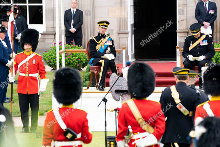 Stock Photo of The Duke of Kent during a service in the garden of the Palace of Holyroodhouse in Edinburgh, to mark the 50th anniversary of the Royal Scots Dragoon Guards