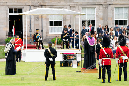 The Duke of Kent during a service in the garden of the Palace of Holyroodhouse in Edinburgh, to mark the 50th anniversary of the Royal Scots Dragoon Guards