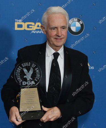 Director Jim Tanker, recipient of the Franklin J. Schaffner Achievement Award appears backstage in the press room during the 70th annual Directors Guild of America Awards at The Beverly Hilton Hotel in Beverly Hills, California on February 3, 2018.