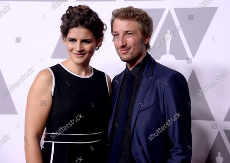 (L-R) Filmmakers Katja Benrath and Tobias Rosen attend the 90th annual Academy Awards Oscar nominees luncheon at the Beverly Hilton Hotel in Beverly Hills, California on February 5, 2018.