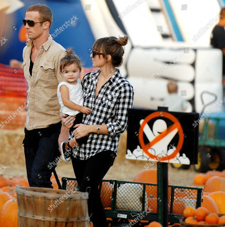 Editorial photo of Cam Gigandet and family at Mr Bones Pumpkin Patch, Los Angeles, America - 27 Oct 2010