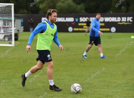 Olly Murs of England during a training session
