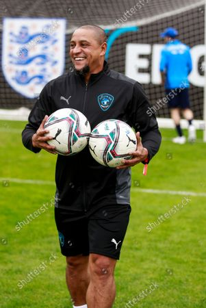 Roberto Carlos of World XI during a training session