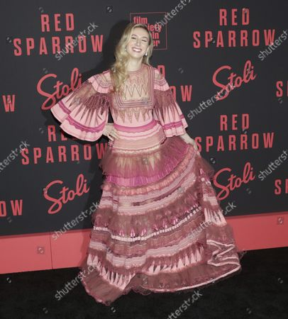 Editorial picture of Isabella Boylston at the 'Red Sparrow' Premiere, New York, United States - 26 Feb 2018