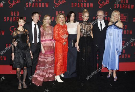 Editorial image of Jennifer Lawrence and Cast at the 'Red Sparrow' Premiere, New York, United States - 26 Feb 2018