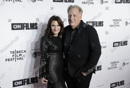 Alan Zweibel and Robin Zweibel arrive on the red carpet at the Opening Night Gala of 'Love, Gilda' as part of 2018 Tribeca Film Festival at the Beacon Theatre on April 18, 2018 in New York City.