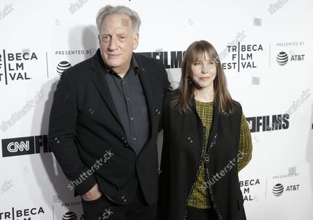 Alan Zweibel and Laraine Newman arrive on the red carpet at the Opening Night Gala of 'Love, Gilda' as part of 2018 Tribeca Film Festival at the Beacon Theatre on April 18, 2018 in New York City.