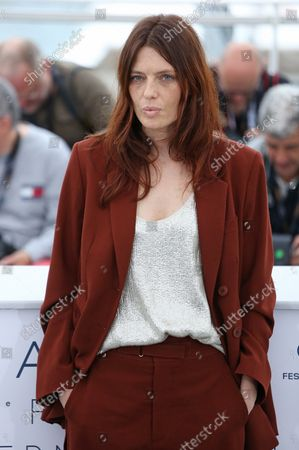 """Amelie Daure arrives at a photocall for the film """"Gueule d'ange"""" during the 71st annual Cannes International Film Festival in Cannes, France on May 12, 2018."""