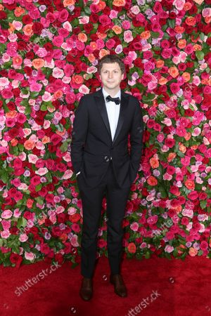Michael Cera arrives on the red carpet at the 72nd Annual Tony Awards at Radio City Music Hall on June 10, 2018 in New York City.