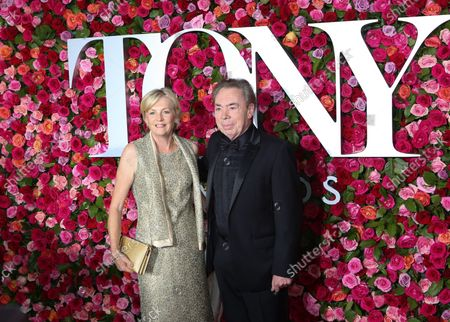 Madeleine Gurdon and Andrew Lloyd Webber arrive on the red carpet at the 72nd Annual Tony Awards at Radio City Music Hall on June 10, 2018 in New York City.