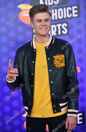 Owen Joyner attends Nickelodeon's KIds' Choice Sports Awards 2018 at Barker Hangar in Santa Monica, California on July 19, 2018.