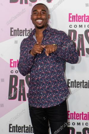 Actor Demetrius Shipp Jr.  attends Entertainment Weekly's Comic-Con closing night celebration party at FLOAT at the Hard Rock Hotel in San Diego, California on July 21, 2018.