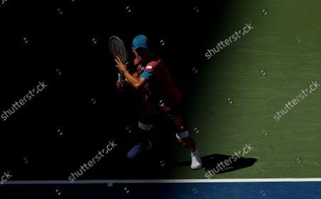 Stock Image of Kei Nishikori of Japan in action