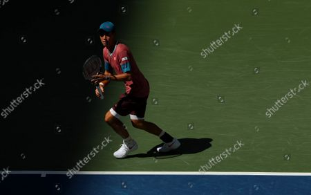 Stock Picture of Kei Nishikori of Japan in action