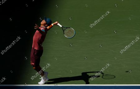 Kei Nishikori of Japan in action
