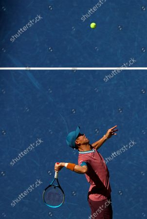 Stock Photo of Kei Nishikori of Japan in action