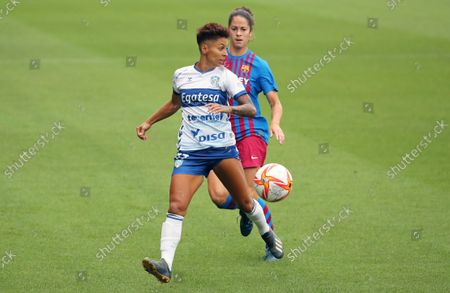 Mari Jose Perez and Marta Torrejon during the match between FC Barcelona and UDG Tenerife, corresponding to the week 1 of the Liga Iberdrola,  played at the Johan Cruyff Stadium, on 04th September 2021, in Barcelona, Spain.  --