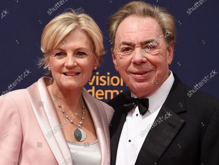 Stock Photo of (L-R) Composer Andrew Lloyd Webber and wife Madeleine Gurdon attend the Creative Arts Emmy Awards at the Microsoft Theater in Los Angeles on September 9, 2018.