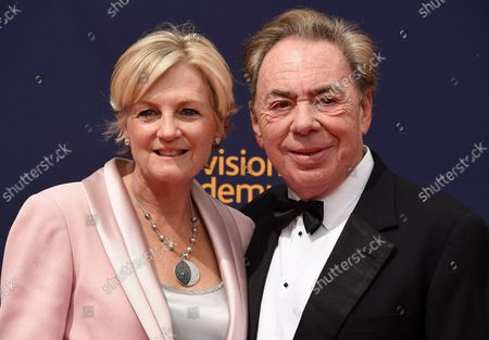 Stock Image of (L-R) Composer Andrew Lloyd Webber and wife Madeleine Gurdon attend the Creative Arts Emmy Awards at the Microsoft Theater in Los Angeles on September 9, 2018.