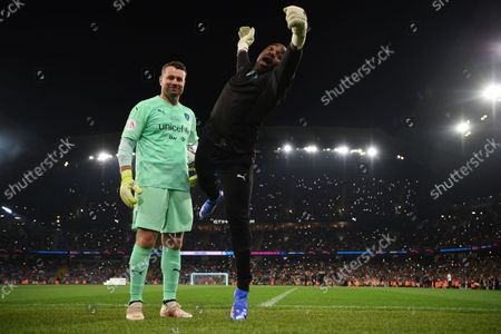 Shay Given and Ore Oduba of World XI during the Soccer Aid for UNICEF 2021 match taking place on Saturday 4th September at the Etihad Stadium, Manchester.