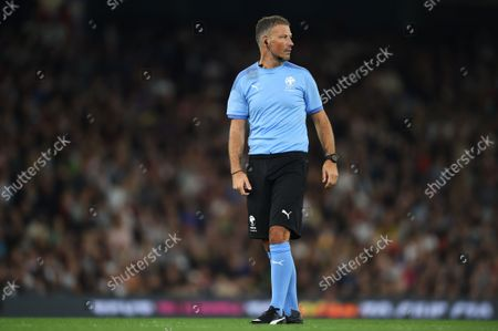 Referee Mark Clattenburg during the Soccer Aid for UNICEF 2021 match