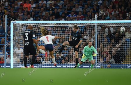 Shay Given of World XI watches the ball go wide during the Soccer Aid for UNICEF 2021 match