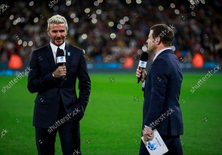 David Beckham and Dermot O'Leary