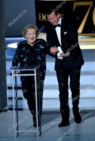 Stock Image of Betty White appears onstage during the 70th annual Primetime Emmy Awards at the Microsoft Theater in downtown Los Angeles on September 17, 2018.