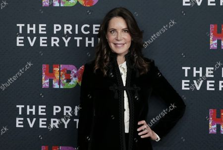 Lois Robbins arrives on the red carpet at 'The Price of Everything' New York Premiere at the Museum of Modern Art on October 18, 2018 in New York City.