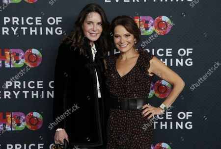 Lois Robbins and Debi Wisch arrive on the red carpet at 'The Price of Everything' New York Premiere at the Museum of Modern Art on October 18, 2018 in New York City.
