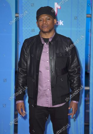 Sway Calloway arrives at the MTV Europe Music Awards in Bilbao, Spain on November 4, 2018.