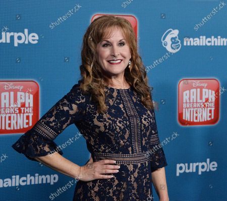 """Cast member Jodi Benson, the voice of Ariel in the animated motion picture fantasy """"Ralph Breaks the Internet"""" attends the premiere of the film at the El Capitan Theatre in the Hollywood section of Los Angeles on November 5, 2018. Storyline: Taking place six years after saving the arcade from Turbo's vengeance, the Sugar Rush arcade cabinet has broken, forcing Ralph and Vanellope to travel to the Internet via the newly-installed Wi-Fi router in Litwak's Arcade to retrieve the piece capable of saving the game."""