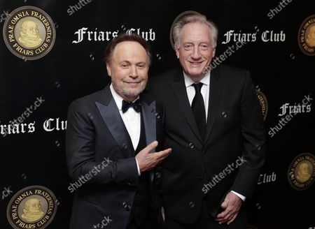 Billy Crystal and Alan Zweibel arrive on the red carpet when the Friar's Club Honors Billy Crystal with their Entertainment Icon Award at The Ziegfeld Ballroom on November 12, 2018 in New York City.