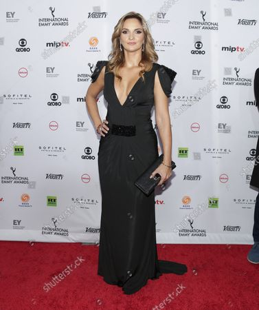 Mariana Seoane arrives on the red carpet at the 46th International Emmy Awards at the New York Hilton in New York City on November 19, 2018.