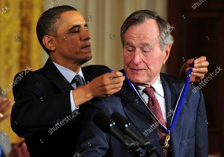 Editorial photo of 41st President George Herbert Walker Bush dies at 94, Washington, District of Columbia, United States - 01 Dec 2018