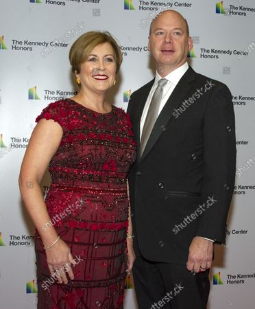 Deborah F. Rutter, president, John F. Kennedy Center for the Performing Arts, and her husband, Peter Ellefson, arrive for the formal Artist's Dinner honoring the recipients of the 41st Annual Kennedy Center Honors hosted by United States Deputy Secretary of State John J. Sullivan at the US Department of State in Washington, D.C. on Saturday, December 1, 2018. The 2018 honorees are: singer and actress Cher; composer and pianist Philip Glass; Country music entertainer Reba McEntire; and jazz saxophonist and composer Wayne Shorter. This year, the co-creators of Hamilton, writer and actor Lin-Manuel Miranda, director Thomas Kail, choreographer Andy Blankenbuehler, and music director Alex Lacamoire will receive a unique Kennedy Center Honors as trailblazing creators of a transformative work that defies category.