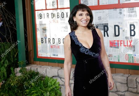 Susanne Bier arrives on the red carpet at the New York screening of 'Bird Box' at Alice Tully Hall, Lincoln Center on December 17, 2018 in New York City.